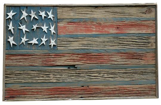 Earth-Friendly Fourth Of July - Greenstrides : Sustainable. American flag  made of reclaimed ... - Reclaimed Wood Flag WB Designs