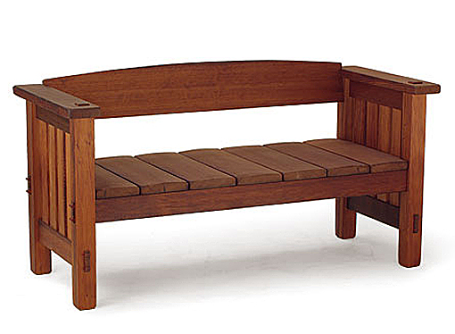outdoor wooden bench with storage plans | Woodworking Camp and Plans